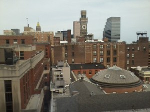 View from the hospital.