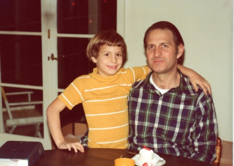 Me and my dad, 1974.